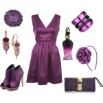 AUTUMN INSPIRATION: PURPLE SATIN DRESS