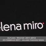 CATWALK – ELENA MIRO' AUTUMN / WINTER 2011-2012