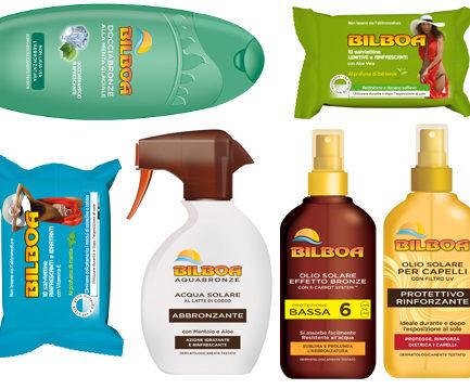 bilboa solari capelli spray salviette doccia doposole