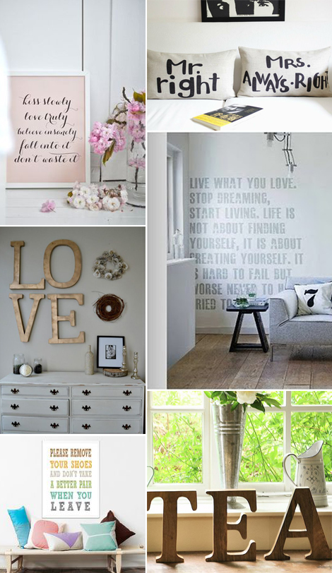 Write your home frasi motivazionali scritte decorative - Scritte decorative ...