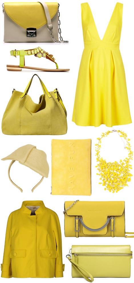 giallo moda primavera estate 2014 zara topshop elena ghisellini yoox gianlisa coccinelle