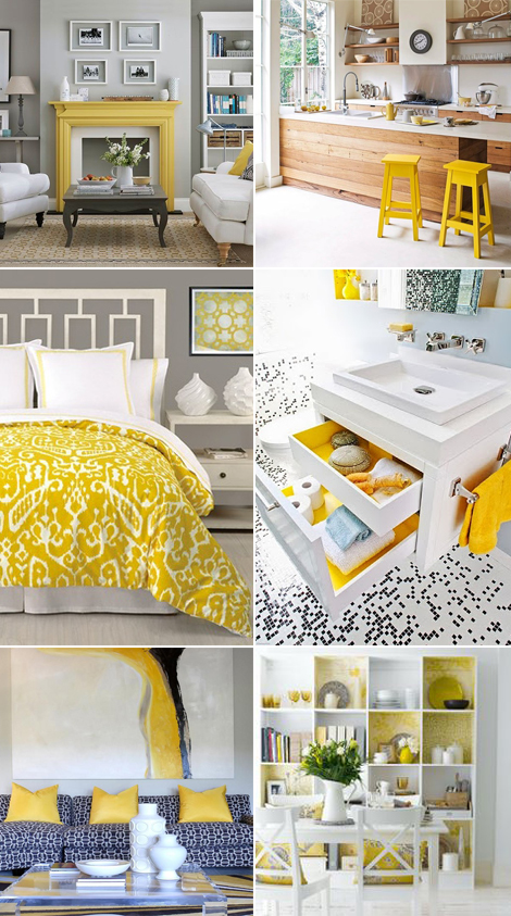 giallo yellow home decor primavera spring