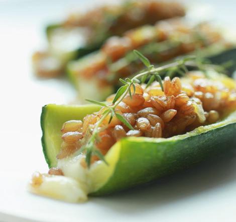 ricetta ecor alimenti ritrovati barchette zucchine farro