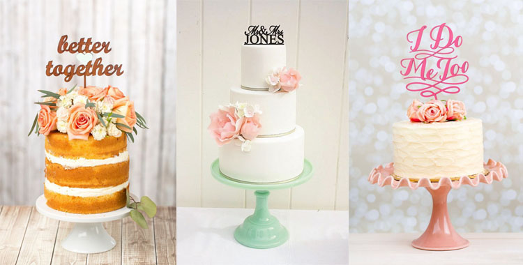 CAKE TOPPER: IDEE PER DECORARE LA WEDDING CAKE CON GUSTO E ORIGINALITÀ
