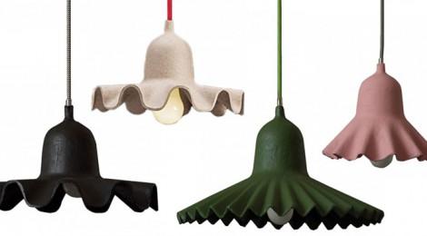 "SELETTI: LE LAMPADE A SOSPENSIONE ""EGG OF COLUMBUS"" IN CARTA RICICLATA"