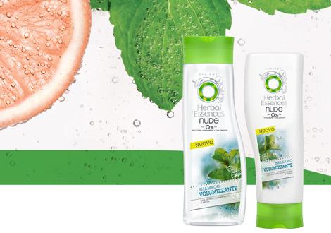 herbal essences nude volumizzante shampoo balsamo senza siliconi parabeni coloranti
