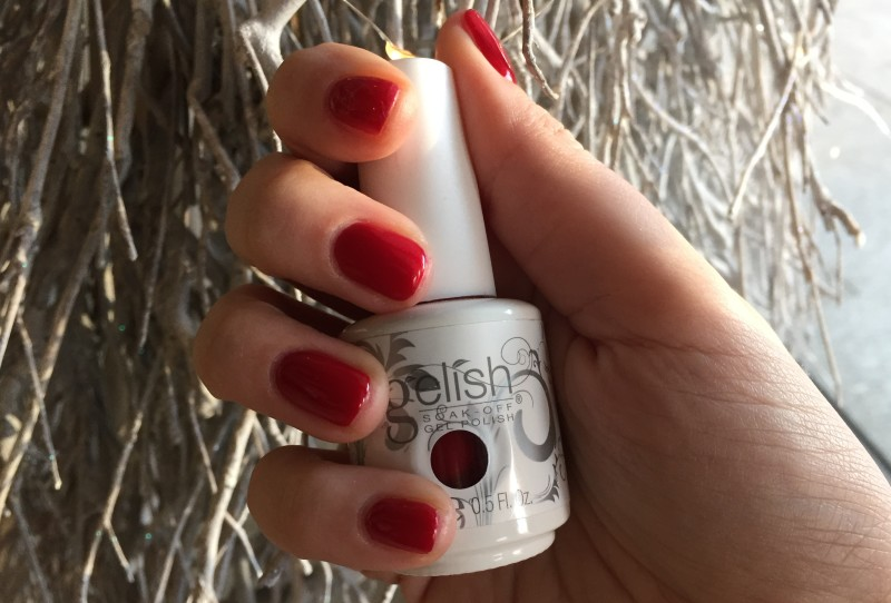 Gelish smalto semipermanente Natale 2015 holiday rosso