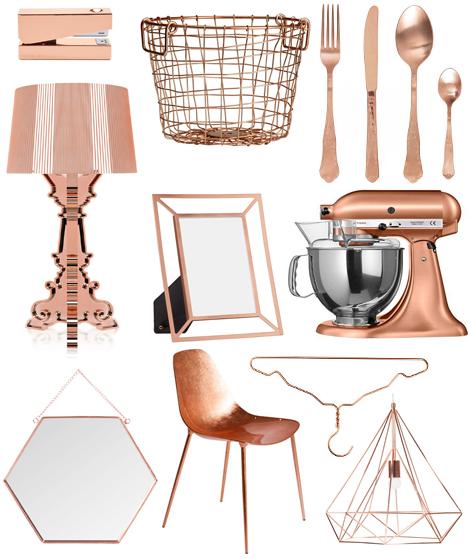 Copper rame tendenza casa home decor