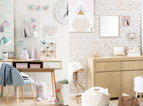 Maisons du monde si chiama graphik pastel la tendenza in stile