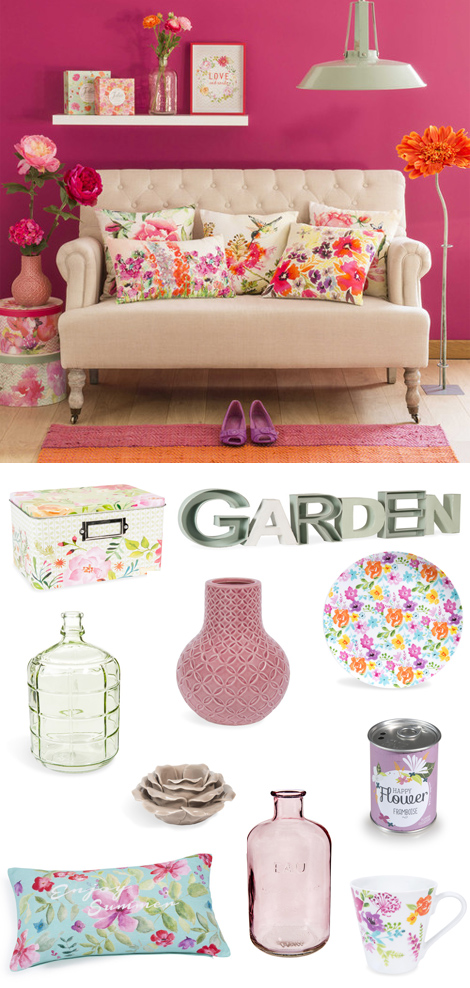 Maisons du Monde Garden Factory fiori primavera home decor