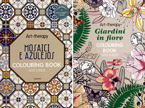 Art therapy colouring book zentangle doodling