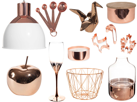 Maisons du Monde modern copper rame autunno-inverno 2016-2017