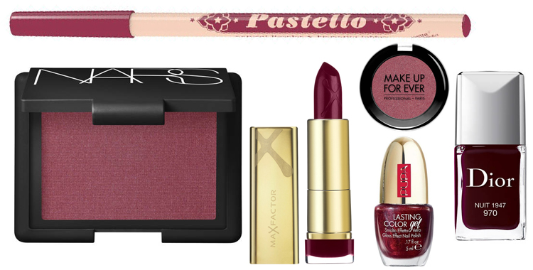 MAKE-UP TREND – BORDEAUX E BURGUNDY PER I PRODOTTI DI BELLEZZA DELL'INVERNO 2017