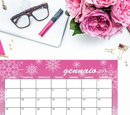 Calendario gennaio 2017 free printable