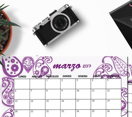 calendario marzo 2017 freebie free paisley
