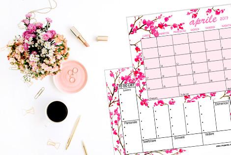 Calendario mensile Aprile 2017 StyleNotes