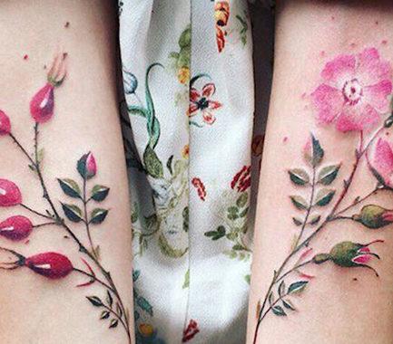 Tatuaggi Tattoo minimal geometrici botanici Pis Saro