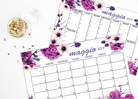 Calendario Maggio free printable