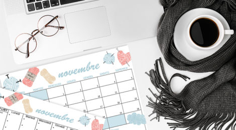 FREE DOWNLOAD: SCARICA IL CALENDARIO E GLI SFONDI DI NOVEMBRE A TEMA KNITTING