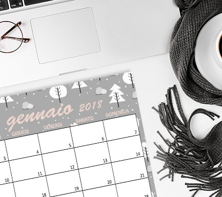 calendario gennaio 2018 freebie