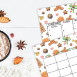 FREEBIES – CALENDARIO E SFONDI DI DICEMBRE A TEMA GINGERBREAD E CHRISTMAS SWEETS