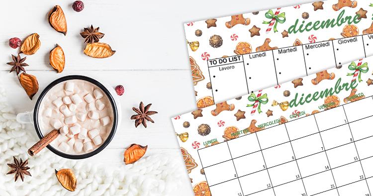 Calendario e Sfondi dicembre Christmas Sweets Gingerbread
