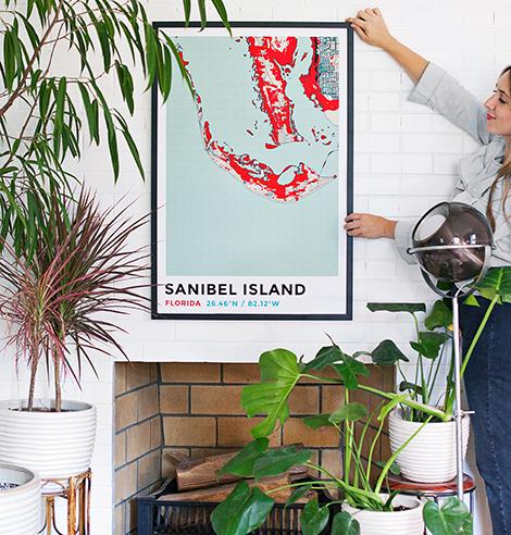 Mappe da parete personalizzate desenio mapiful mujumaps