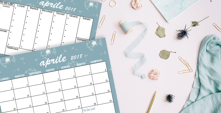 Calendario sfondi aprile 2018 free printable freebies