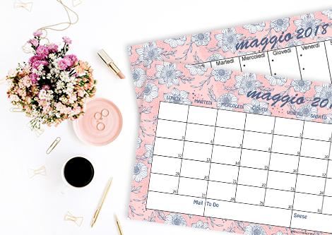 Calendario sfondi desktop iPhone maggio 2018 flowers