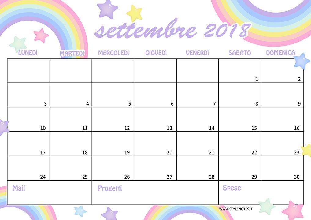 Calendario sfondi settembre arcobaleno good vibes
