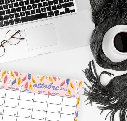 Calendario sfondi ottobre 2018