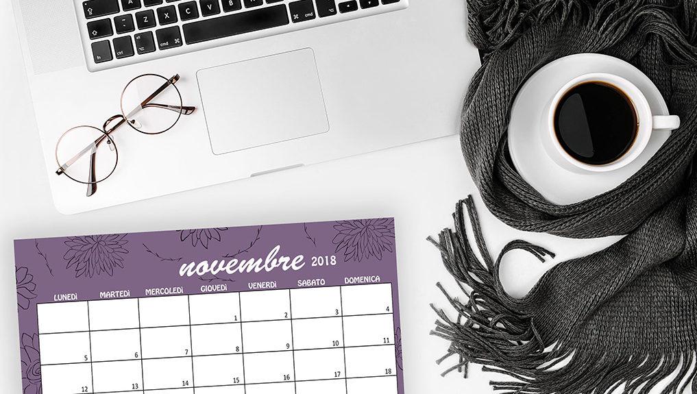 Calendario Sfondi Novembre 2018