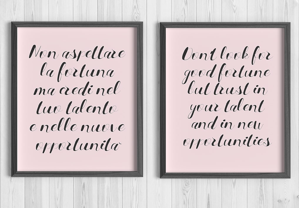Fortuna grafica motivazionale wall art
