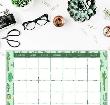 Summer Suite 2020 calendario planner sfondi cactus