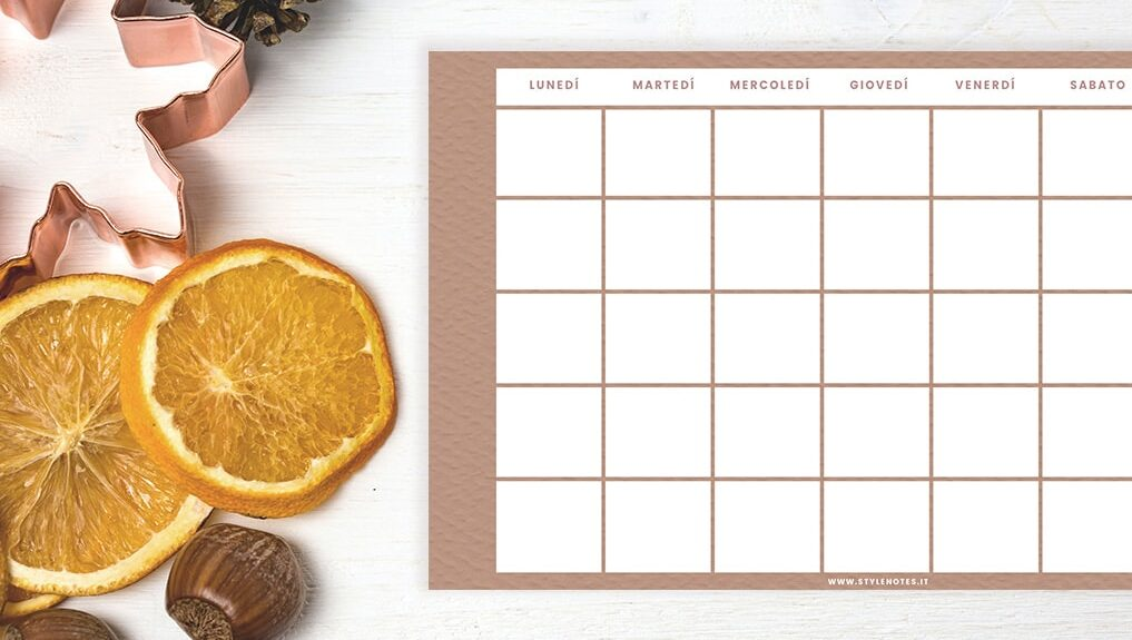 Terracotta Suite Calendario sfondi planner autunno 2020