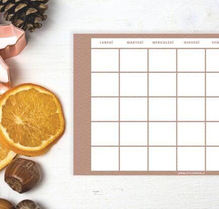 Terracotta Suite Calendario sfondi planner autunno 2020