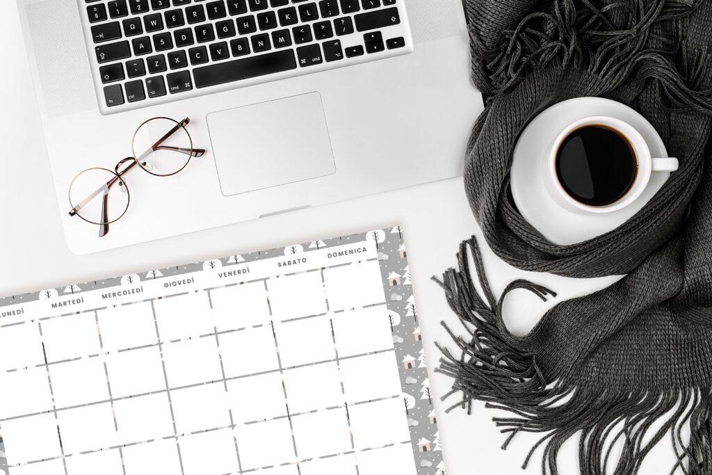Winter Suite 2021 Stile Scandinavo Calendario Planner sfondi
