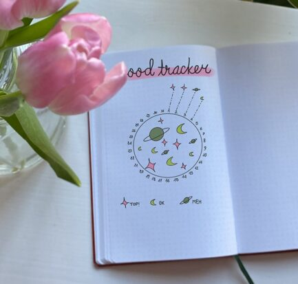 Bullet Journal Mood Tracker Habit Life Planner